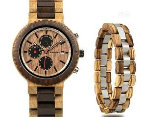 BOBO BIRD Wood Watch Bracelet Set for Men Chronograph Wristwatch | Watches for sale in Lagos State, Surulere