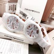 Main Original Ceramic Unisex Couple Emporio Armani Wristwatch | Watches for sale in Lagos State, Lagos Island
