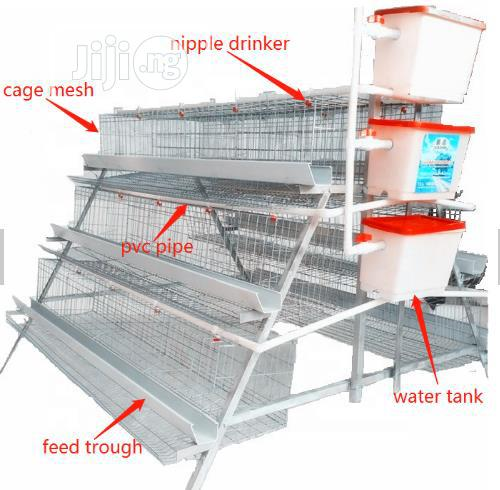 Battery Cages China Factory Wholesale Price Best Quality Poultry Cages | Farm Machinery & Equipment for sale in Akinyele, Oyo State, Nigeria