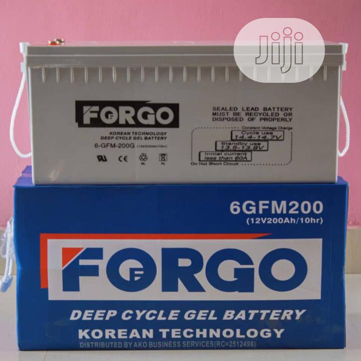 200ah 12volts Forgo Battery Available