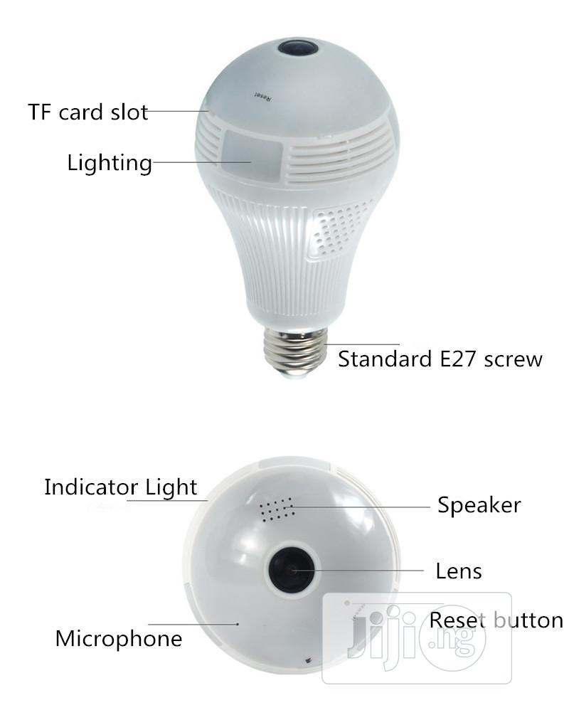 Light Bulb With 3D Panoramic Surveillance Camera | Security & Surveillance for sale in Ikeja, Lagos State, Nigeria