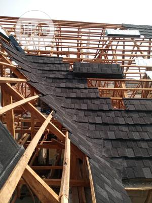 Black and White Shingle Stone Coated Roofing | Building & Trades Services for sale in Lagos State, Ajah