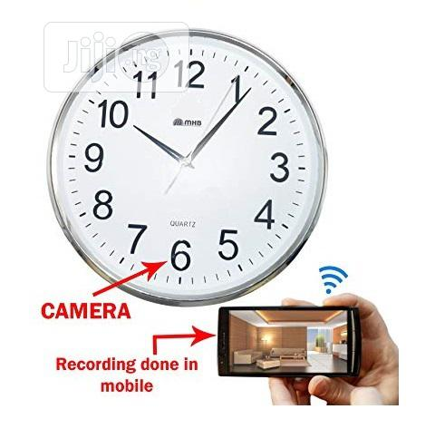 Multi-functional Wifi Clock With Hidden Surveillance Camera | Security & Surveillance for sale in Ikeja, Lagos State, Nigeria