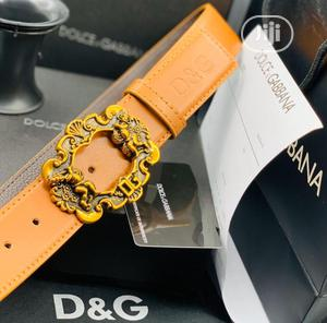 Dolce Gabbana (D G) Leather Belt for Men's | Clothing Accessories for sale in Lagos State, Lagos Island (Eko)