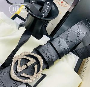 Gucci Leather Belt For Men's | Clothing Accessories for sale in Lagos State, Lagos Island (Eko)