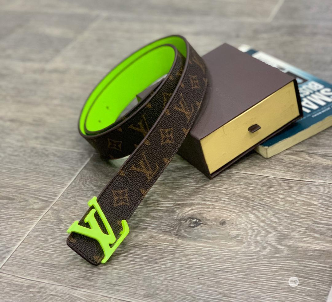 Archive: Original Louis Vuitton Leather Belt Collection