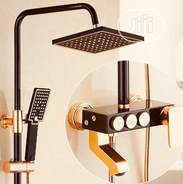 Standing Shower(Black And Gold)