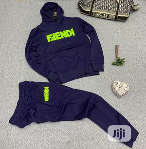 Authentic Fendi Up Down Hoodies(Brown Bluw)   Clothing for sale in Lagos State, Alimosho
