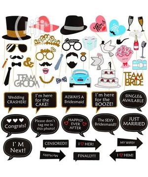 53 Piece Photo Booth Props   Wedding Wear & Accessories for sale in Lagos State, Surulere