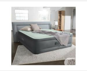 Intex Queen Premaire Airbed With Built-In Pump 18'' | Furniture for sale in Niger State, Minna