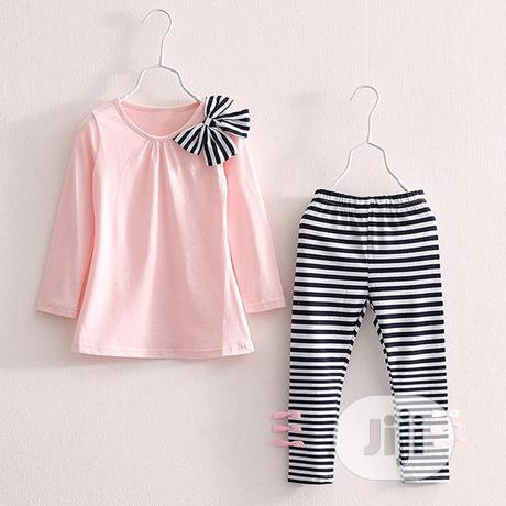Girls Bow Top and Leggings. | Children's Clothing for sale in Surulere, Lagos State, Nigeria