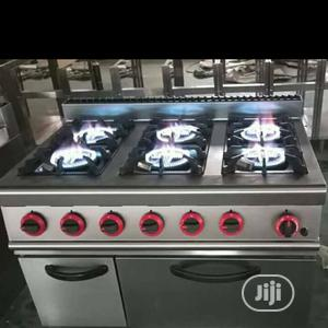 6 Burner Industrial Cooker With Oven And Cabinate | Restaurant & Catering Equipment for sale in Abuja (FCT) State, Asokoro