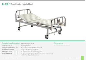 B-28-1 Two-fowler Hospital Bed With Stainless Steel Head/Foot Board | Medical Supplies & Equipment for sale in Lagos State, Ikeja