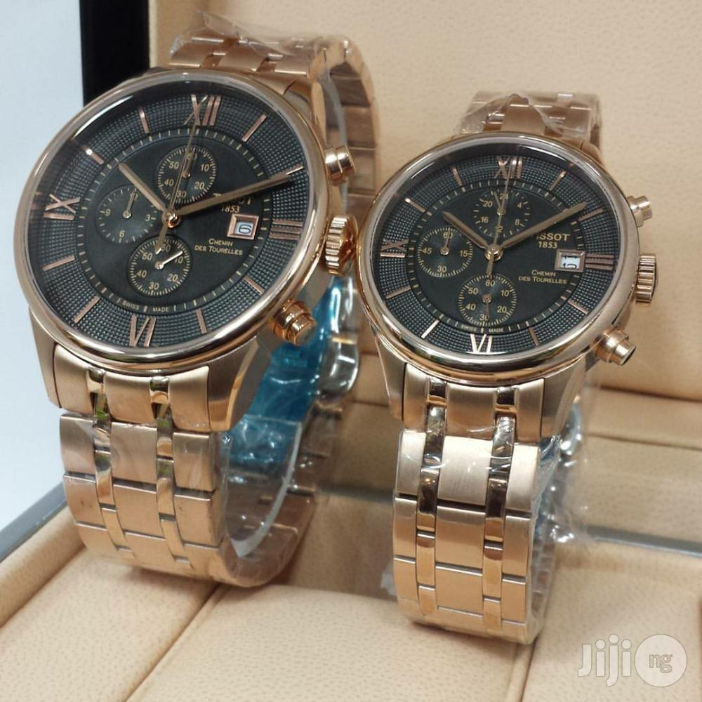 Tissot 1853 Chronograph Gold Couples Watch