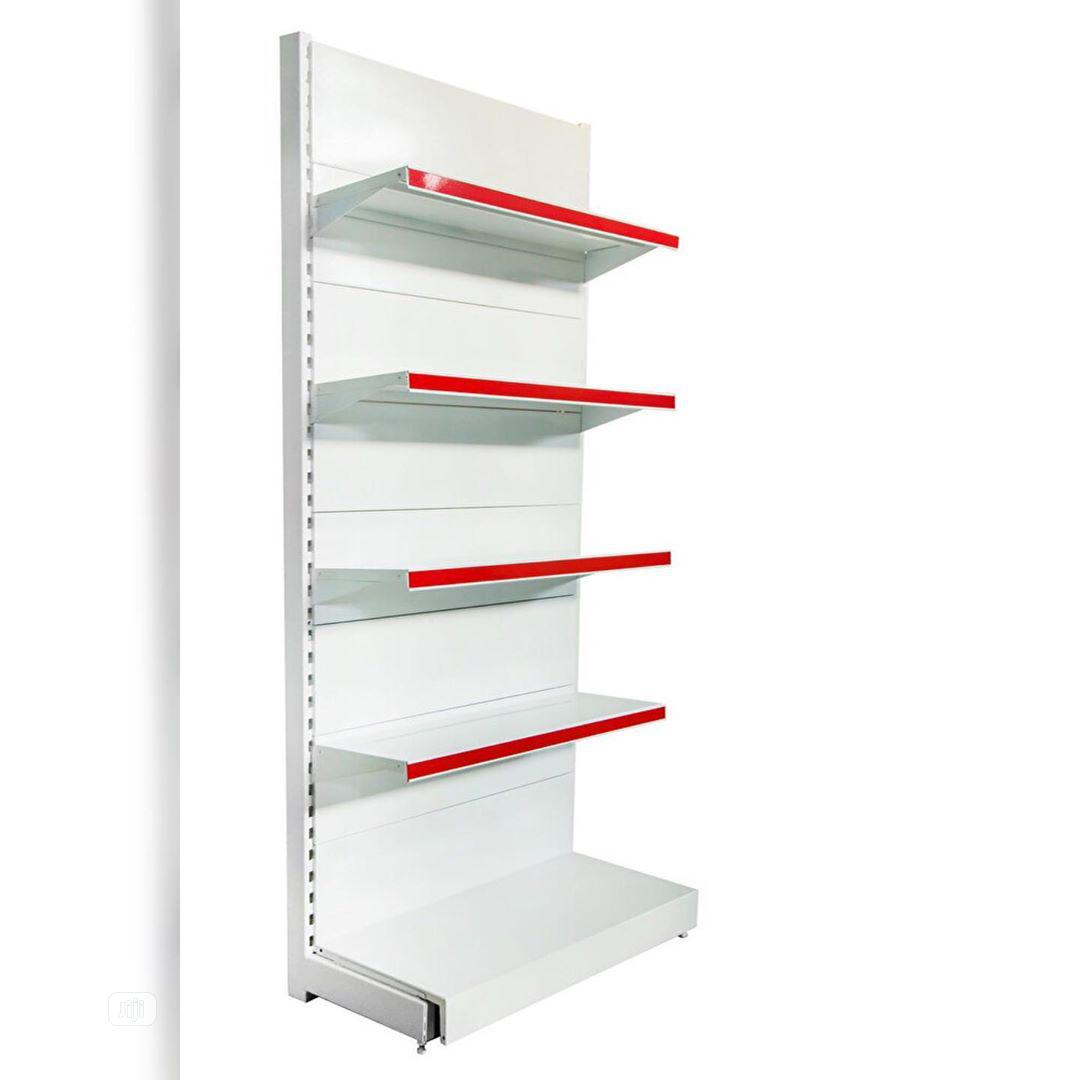 Brand New Single Sided Supermarket Perforated Display Shelving
