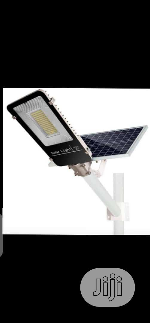 Led Soler Street Light With Panel and Remote Control 100w 7pm Till 5am