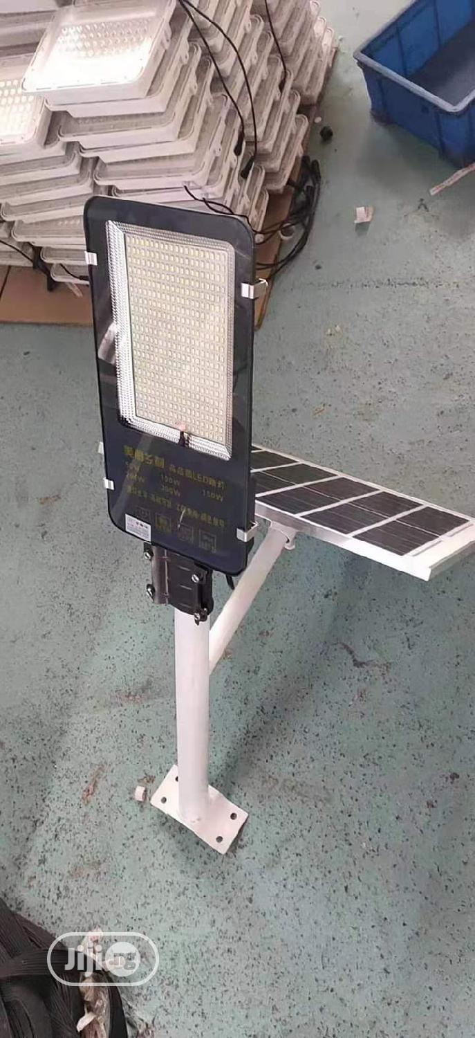 Led Soler Street Light With Panel and Remote Control 100w 7pm Till 5am | Solar Energy for sale in Epe, Lagos State, Nigeria