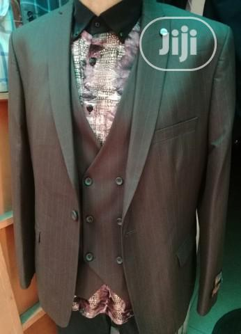 Archive: Brown Turkish Suits With Tiny Stripes By Casila