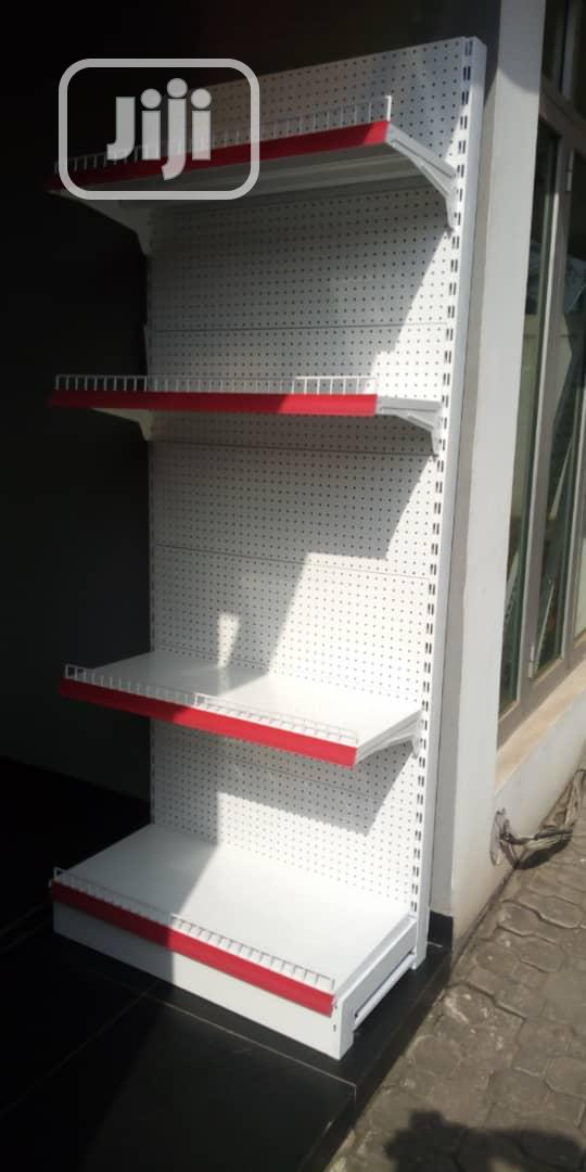 Single Sided Supermarket Shelving