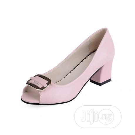 Low Heel Peep Toe Pumps | Shoes for sale in Surulere, Lagos State, Nigeria