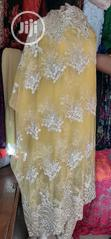 Yellow Indian Sample Lace | Clothing for sale in Ikeja, Lagos State, Nigeria
