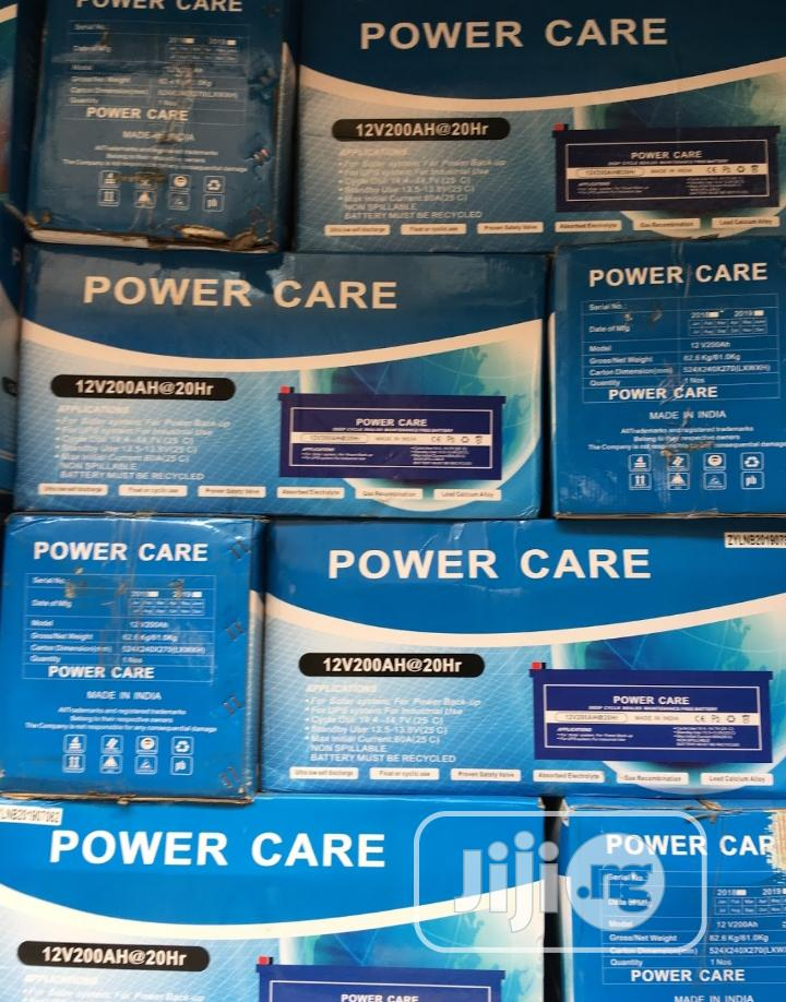 Power Care Gel Battery 200ah 12volts Is Available