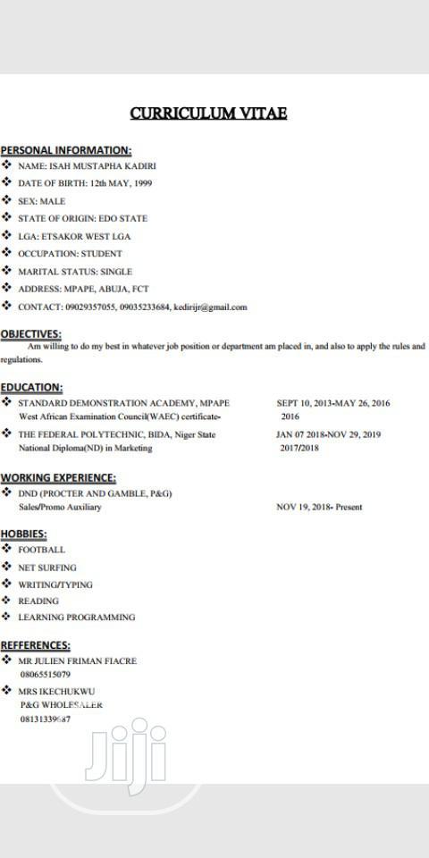 Advertising Marketing CV