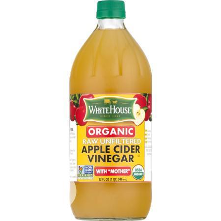 White House Organic Raw/Unfiltered Apple Cider Vinegar (946ml)