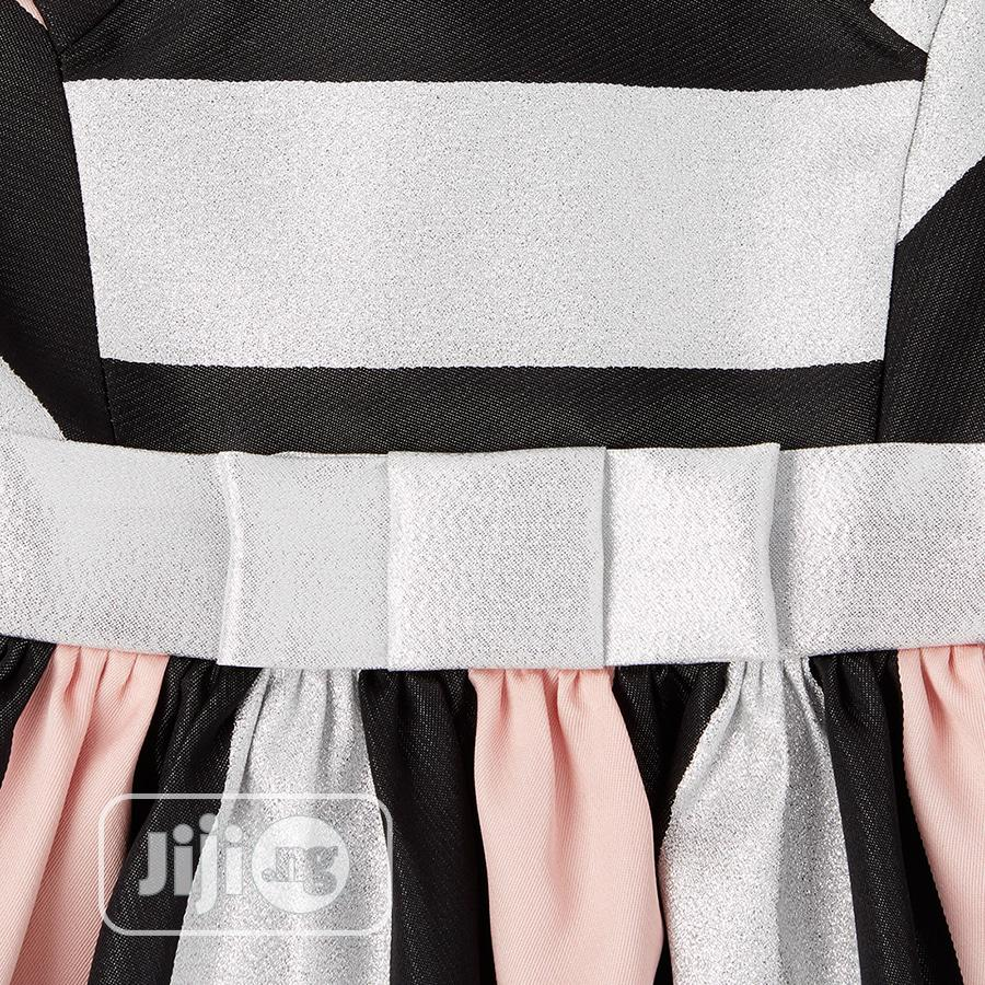 Archive: Children's Place Metallic Colorblock Jacquard Dress