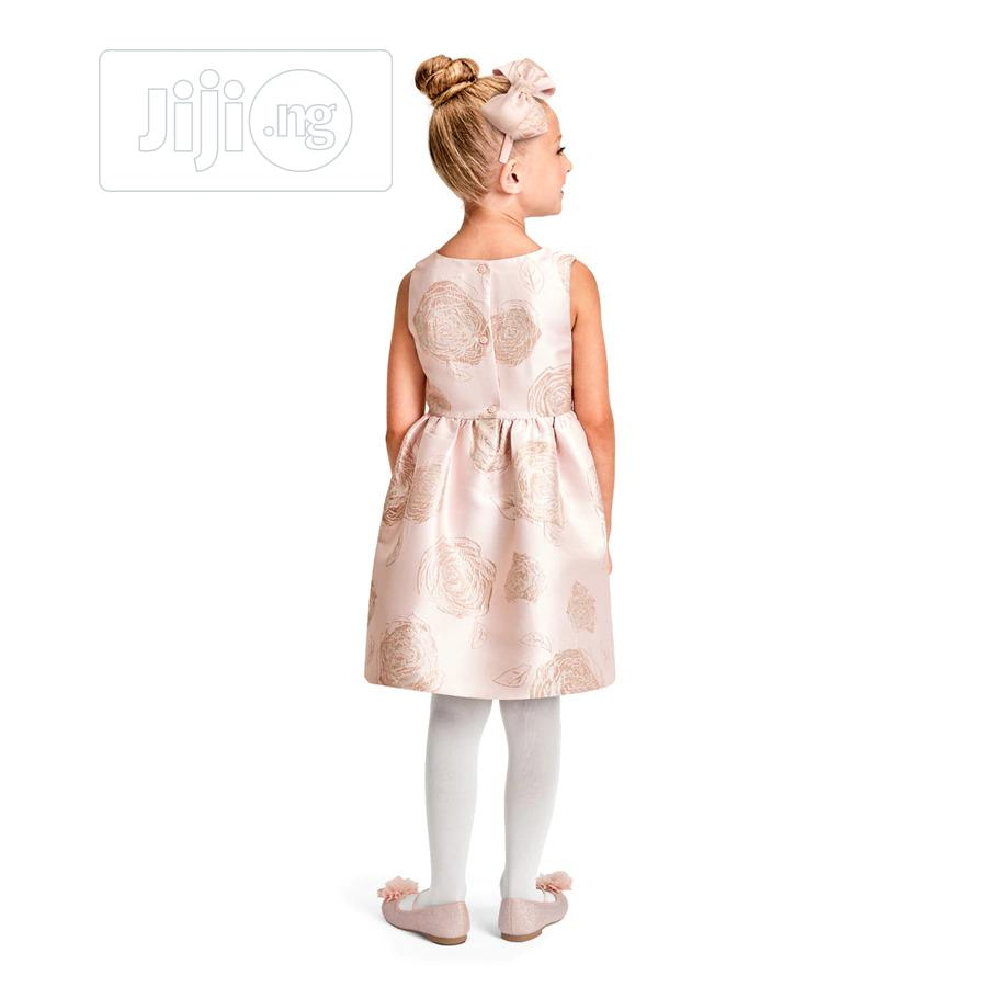 Floral Jacquard Fit And Flare Dress | Children's Clothing for sale in Surulere, Lagos State, Nigeria