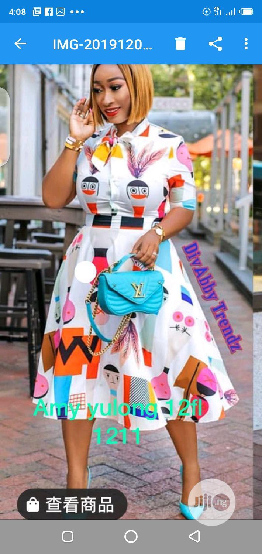 Archive: Ladies Pattern Long Sleeve Dress