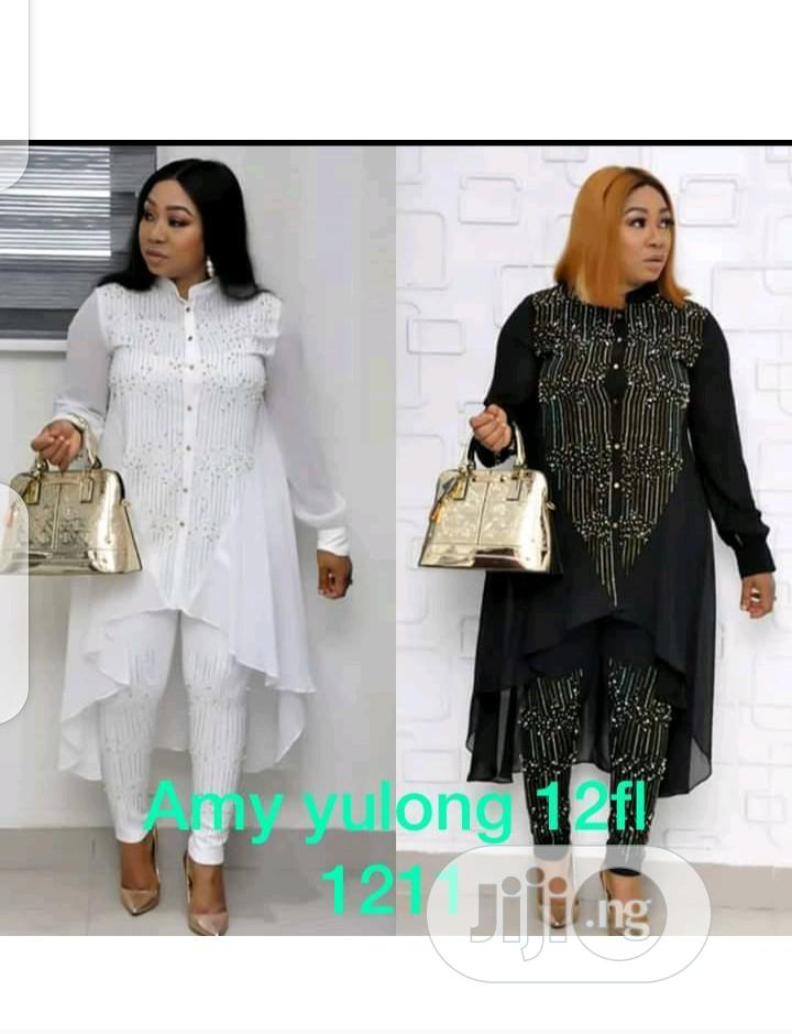 Female Chiffon Long Top and Trouser   Clothing for sale in Ikeja, Lagos State, Nigeria