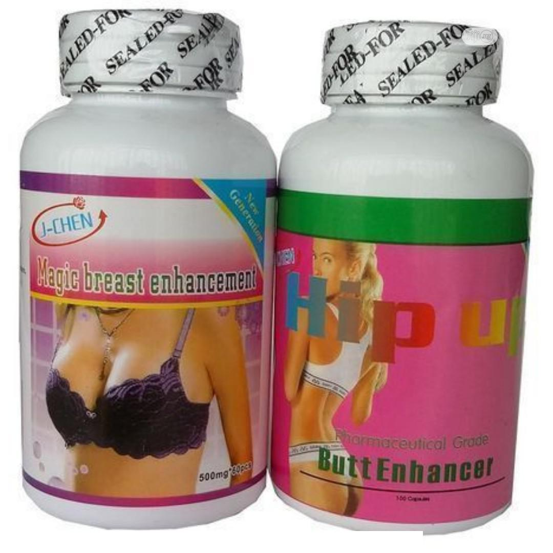 J-chen 2 In 1 Breast And Hip Up Butt Enlargement Capsules
