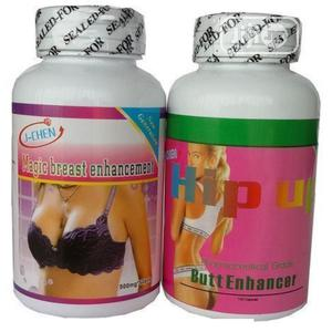 J-chen 2 In 1 Breast And Hip Up Butt Enlargement Capsules | Sexual Wellness for sale in Imo State, Owerri