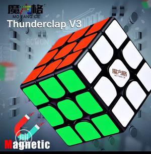 Qiyi Rubik'S Mofangge Thunderclap V3 M 3x3x3 Magnetic Stickerless Cube   Toys for sale in Lagos State, Ikeja