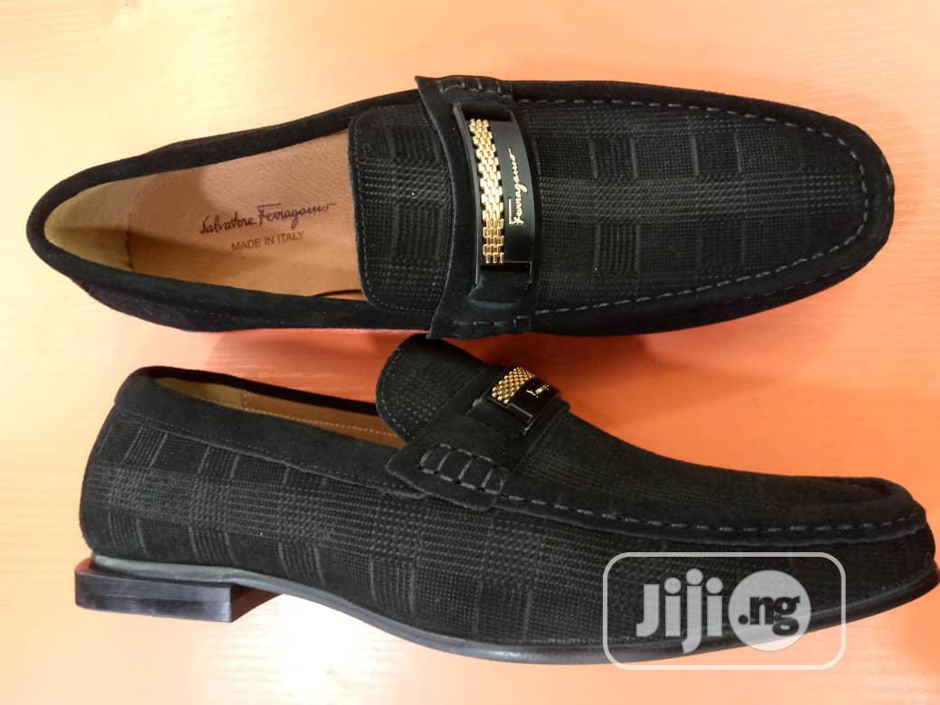Check Out This Lovely Ferragamo Canvas Shoe Made for You. | Shoes for sale in Lagos Island, Lagos State, Nigeria