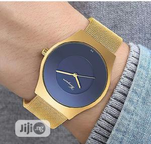 SIBOSUN Men Wristwatch Ultra-thin Gold Mesh Stainless Waterproof | Watches for sale in Lagos State, Ikeja