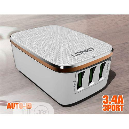 Ldnio 3 Port Usb Charger 3.4a | Computer Accessories  for sale in Ikeja, Lagos State, Nigeria