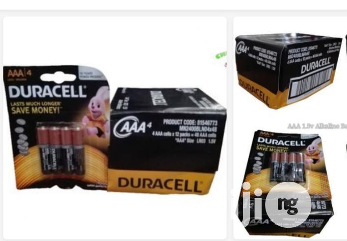 Duracell AAA 1.5volts Alkaline Battery, 1 Pack/12 Cards | Accessories & Supplies for Electronics for sale in Ajah, Lagos State, Nigeria