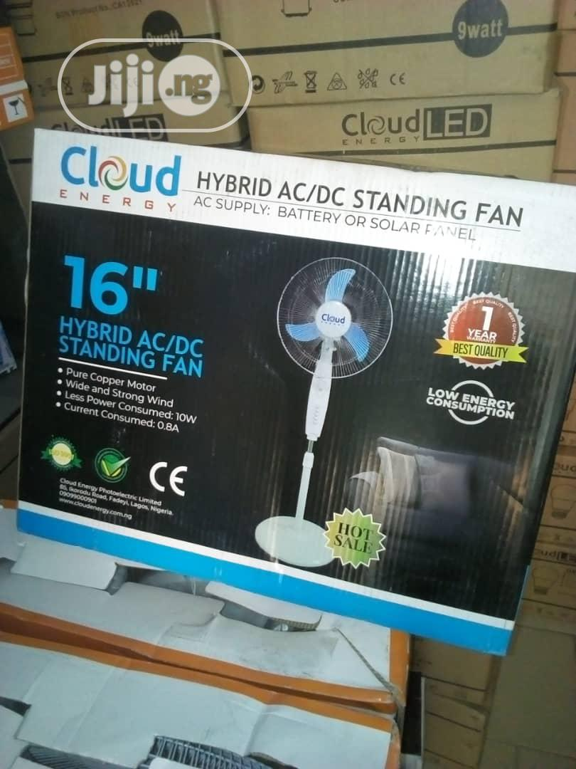 Solar DC And AC Fan