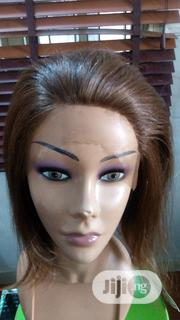 Nice Frontal Wig Human Hair Blended | Hair Beauty for sale in Lagos State, Ikeja