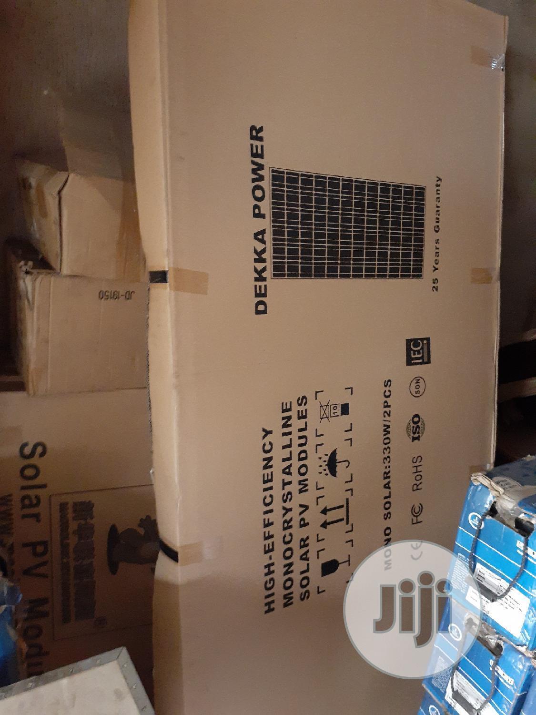330watts 24votls Dekka Power Solar Panel Mono Available
