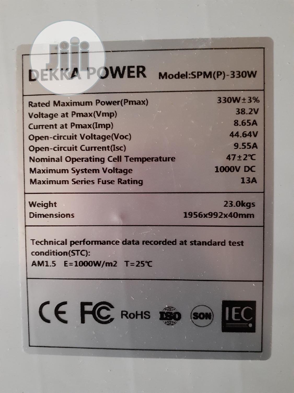 330watts 24votls Dekka Power Solar Panel Mono Available | Solar Energy for sale in Ojo, Lagos State, Nigeria