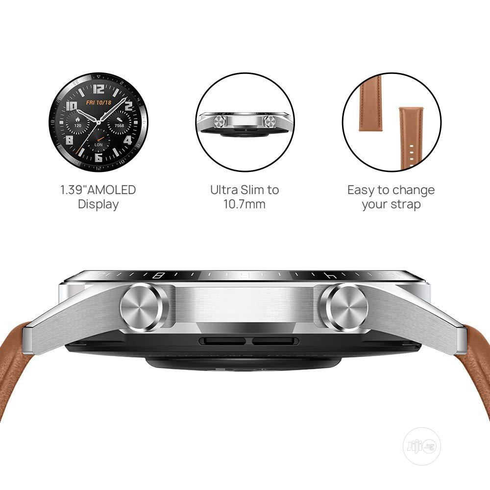 HUAWEI Watch GT 2 2019 Bluetooth Smartwatch - Brown   Smart Watches & Trackers for sale in Ikeja, Lagos State, Nigeria