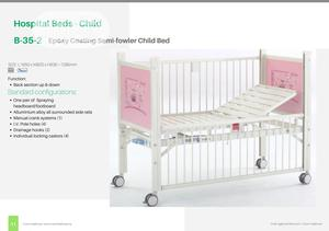 B-35-2 Epoxy Coating Semi-fowler Child Bed | Medical Supplies & Equipment for sale in Lagos State, Ikeja