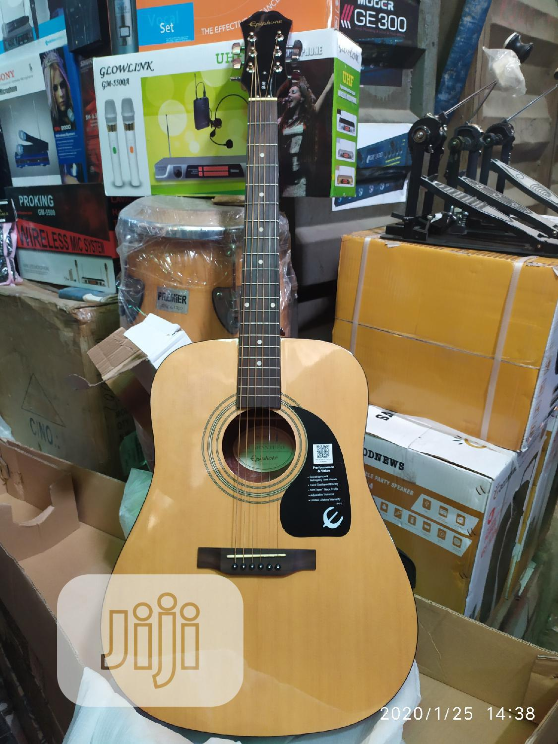 Original Epiphone Acoustic Guitar Available | Musical Instruments & Gear for sale in Lagos State, Nigeria