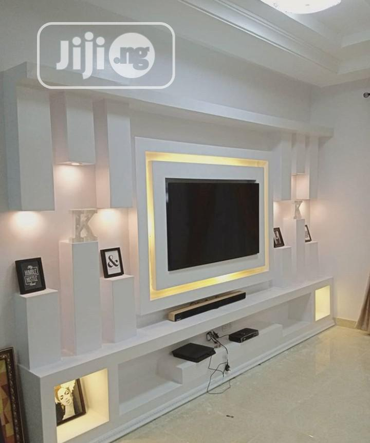 Archive Gypsum Tv Unit Design In Guzape District Furniture Stressreliver Service Jiji Ng