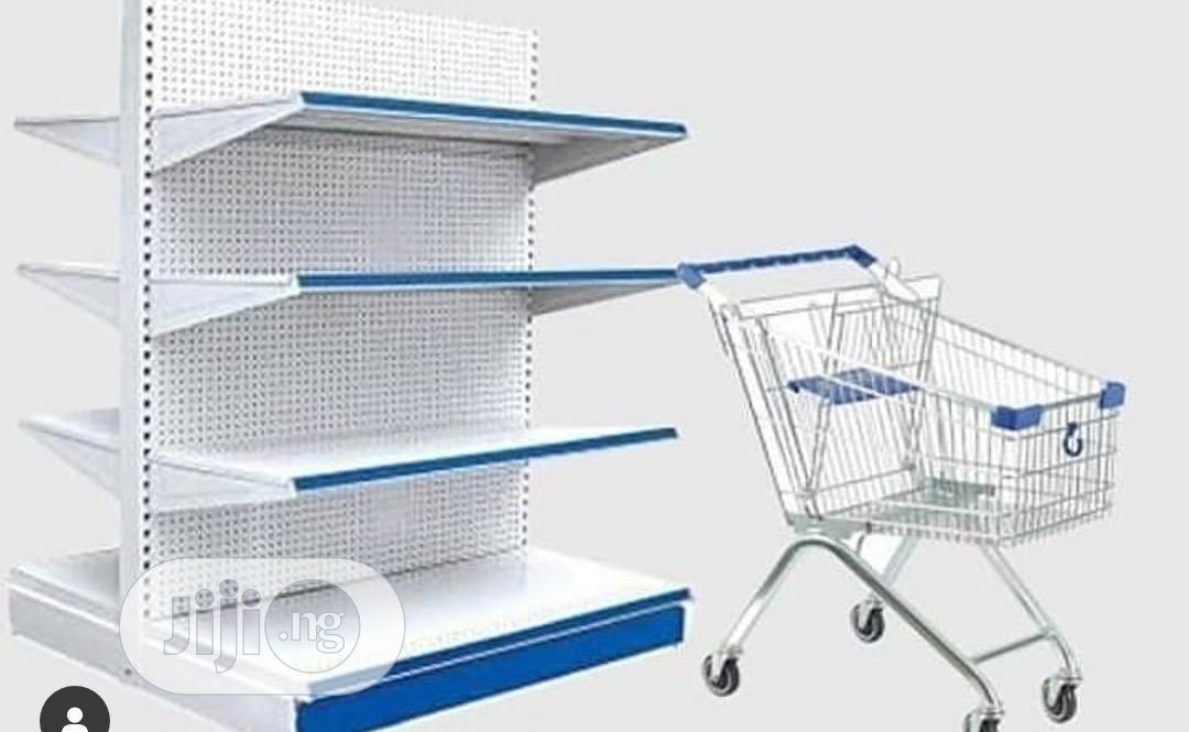Supermarket Shelf + Trolley