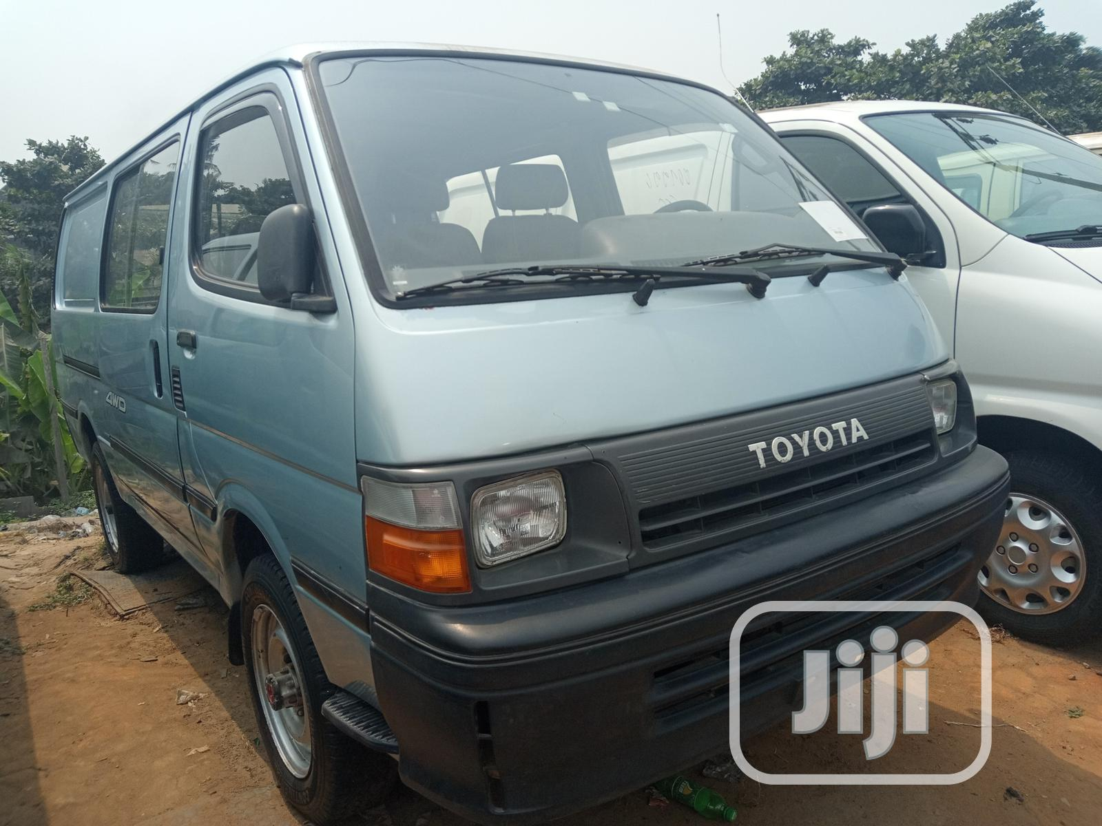 Archive: Toyota Hiace 1999 Model Blue Color, Container Body Long Chasis