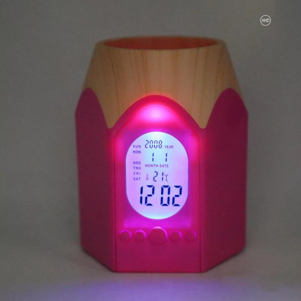 Pen Shape Pencil And Pen Holder With Digital Clock And Led Light. | Stationery for sale in Lagos Island (Eko), Lagos State, Nigeria